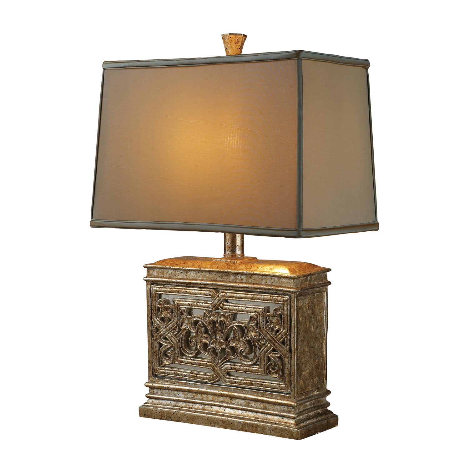 Elk Lighting D1443 Laurel Run Table Lamp - Courtney Gold