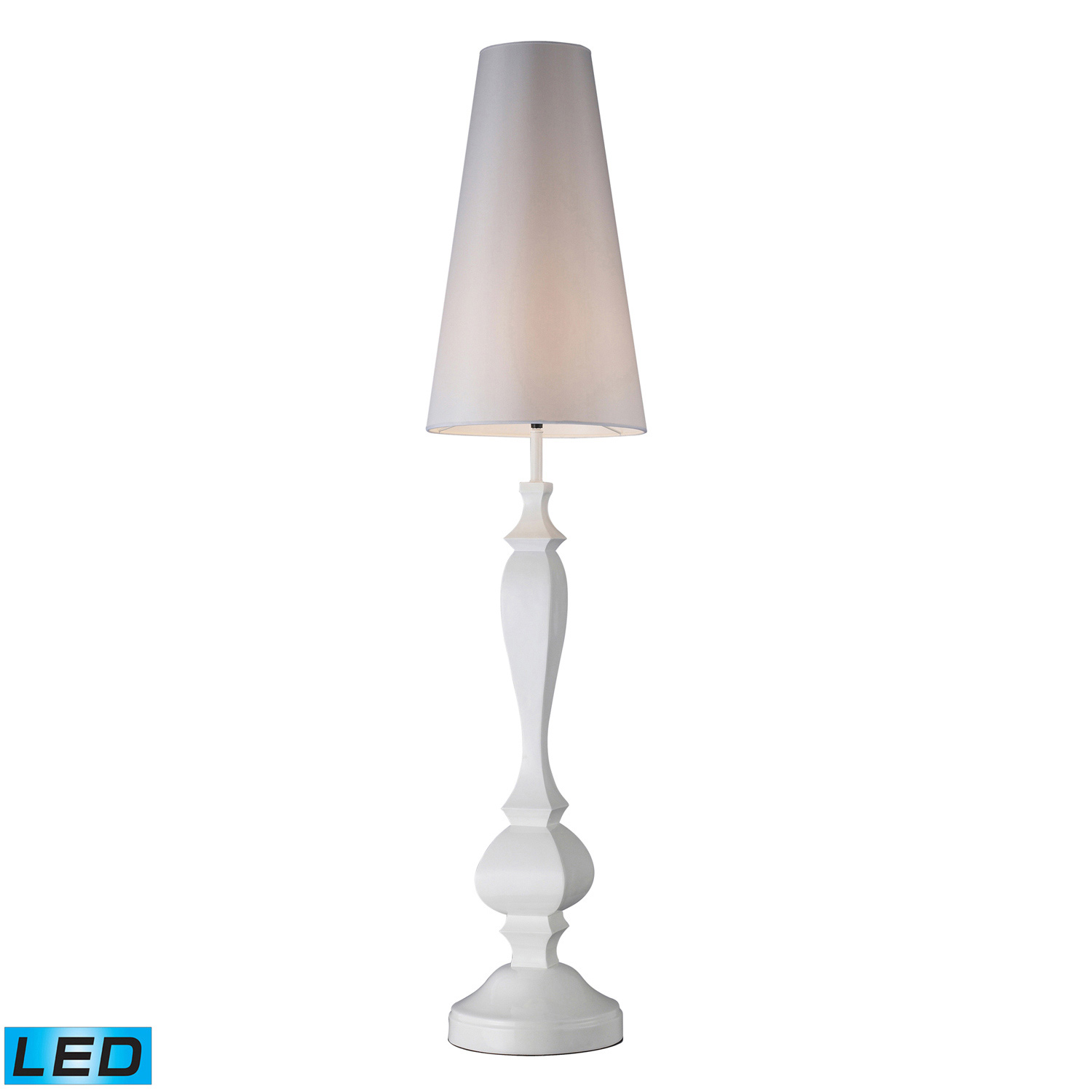 Elk Lighting D1466-LED Palmyra Floor Lamp - Gloss White