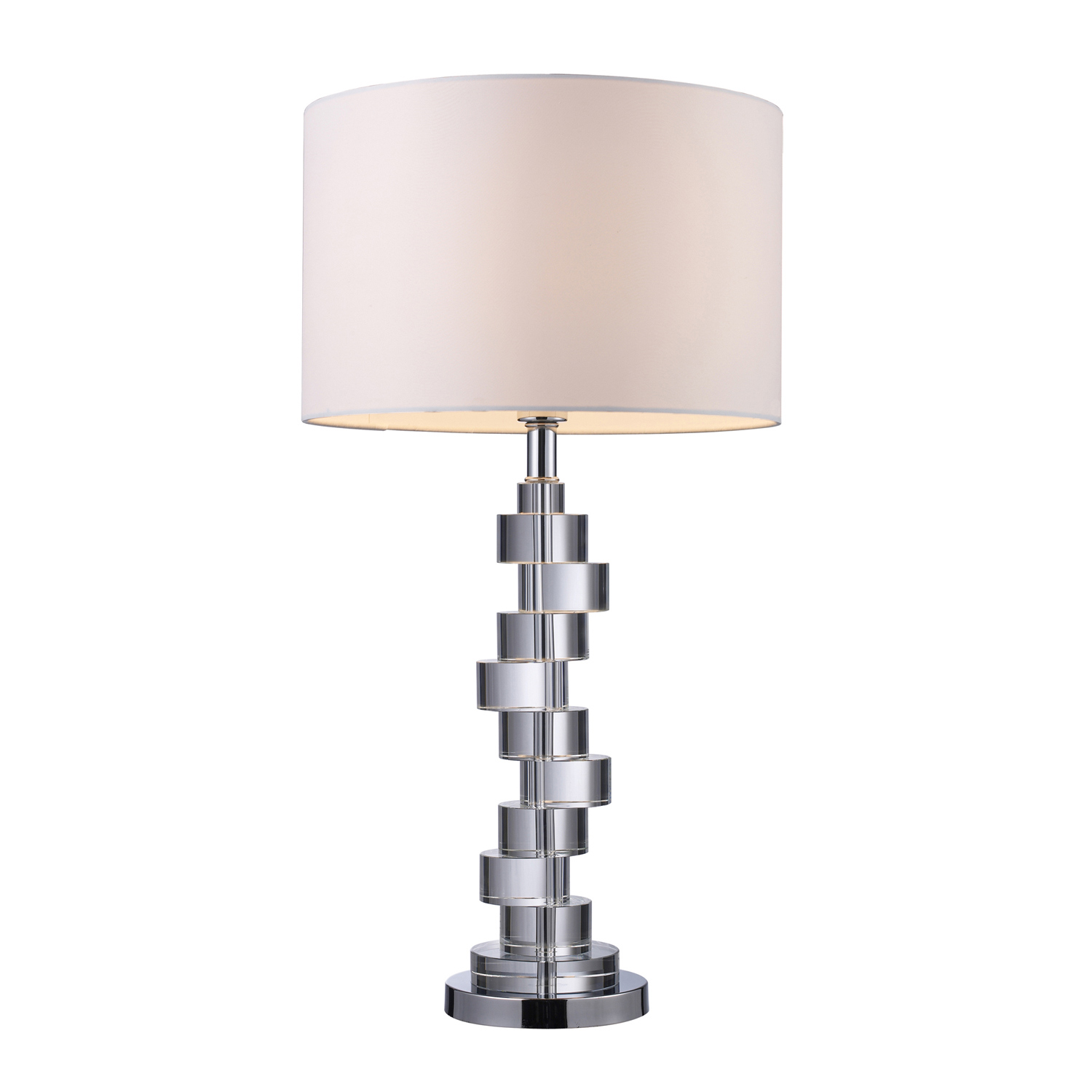 Elk Lighting D1480 Armagh Table Lamp - Clear Crystal and Chrome
