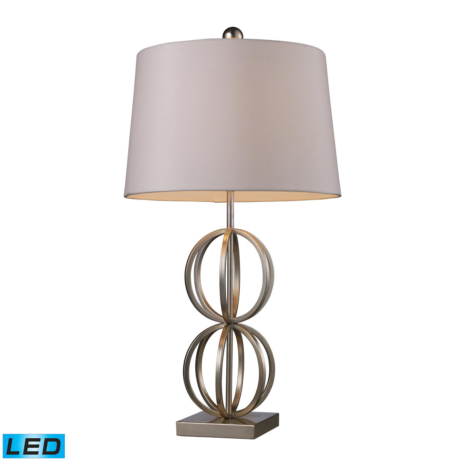 Elk Lighting D1494-LED Donora Table Lamp - Silver Leaf