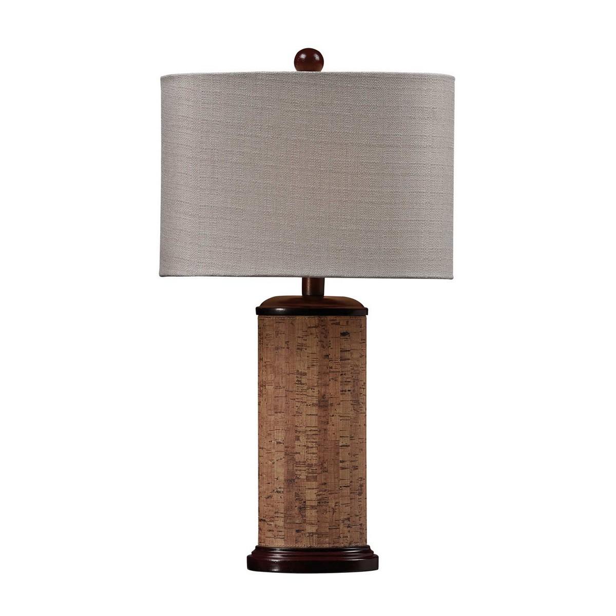 Elk Lighting D159 Table Lamp - Natural Cork/Brown