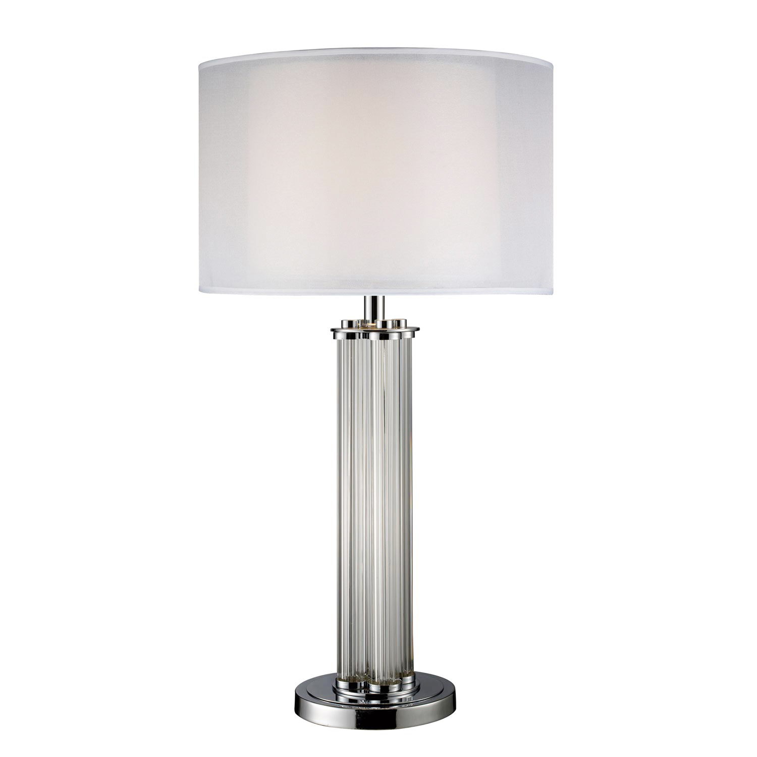 Elk Lighting D1614 Hallstead Table Lamp - Chrome