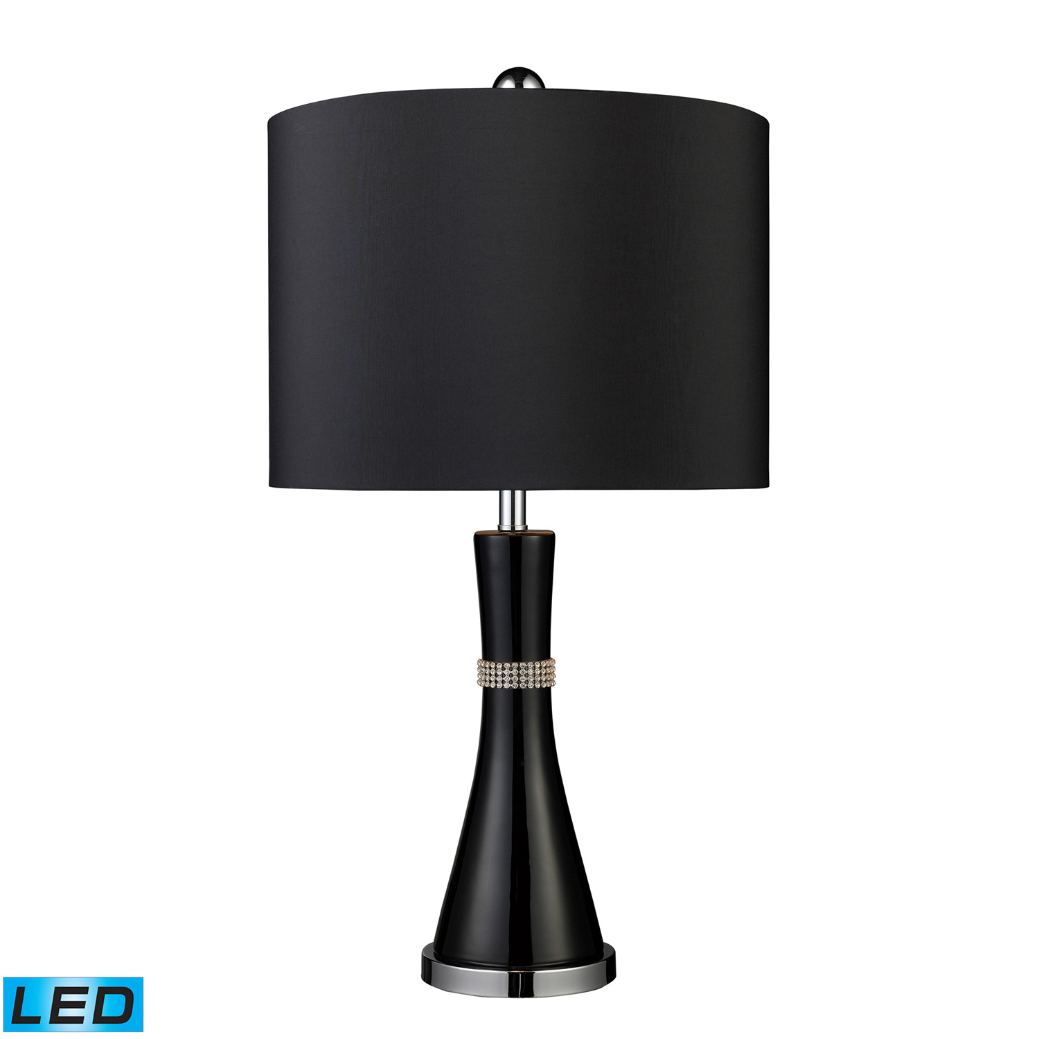 Elk Lighting D1713-LED Sanyan Table Lamp - Gloss Black