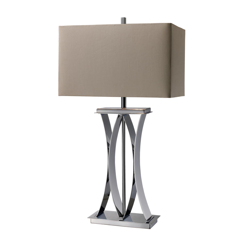 Elk Lighting D1801 Joline Table Lamp - Chrome