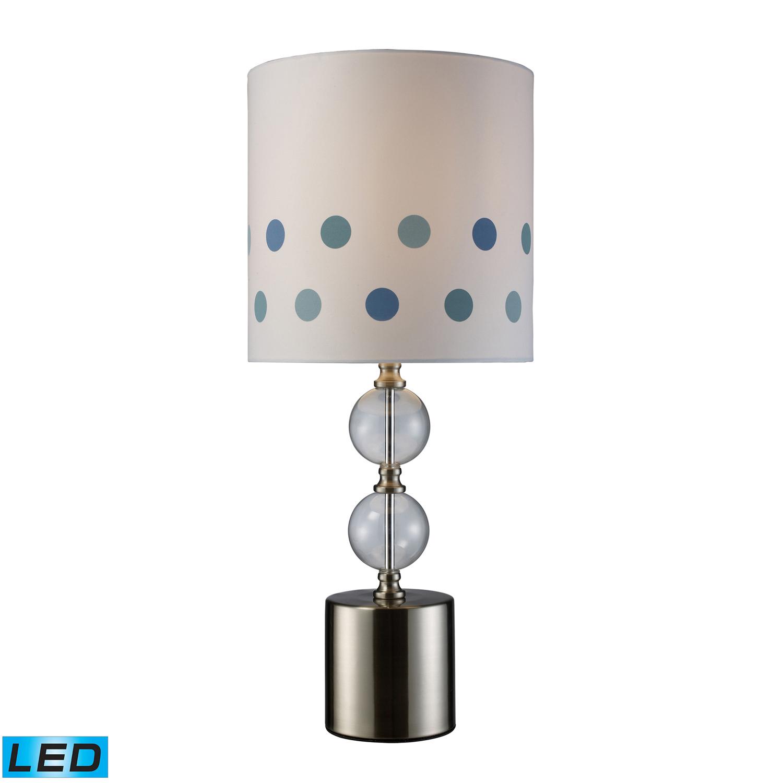 Elk Lighting D1838-LED Fairfield Table Lamp - Chrome and Clear Glass