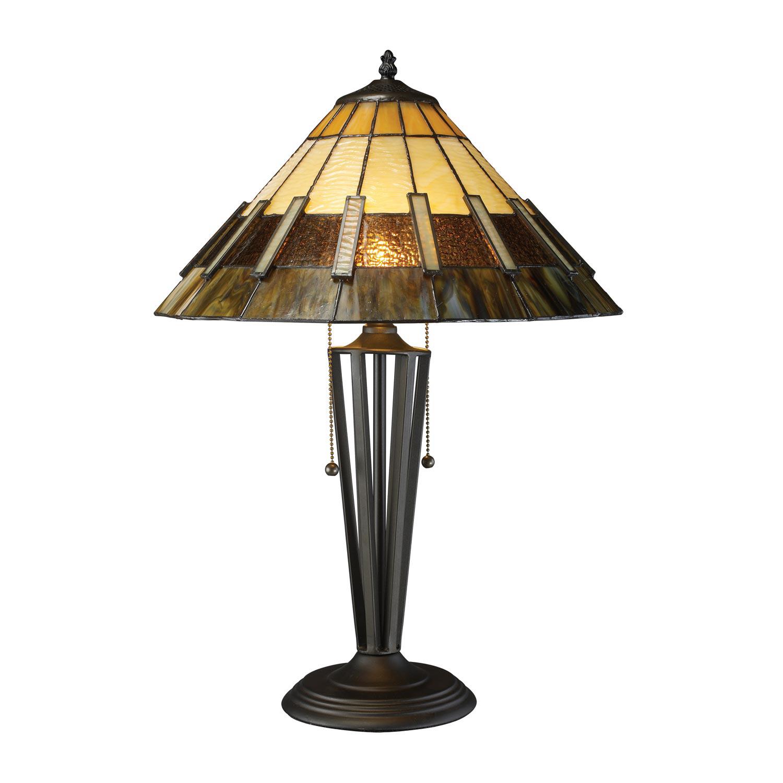 Elk Lighting D1860 Porterdale Table Lamp - Tiffany Bronze
