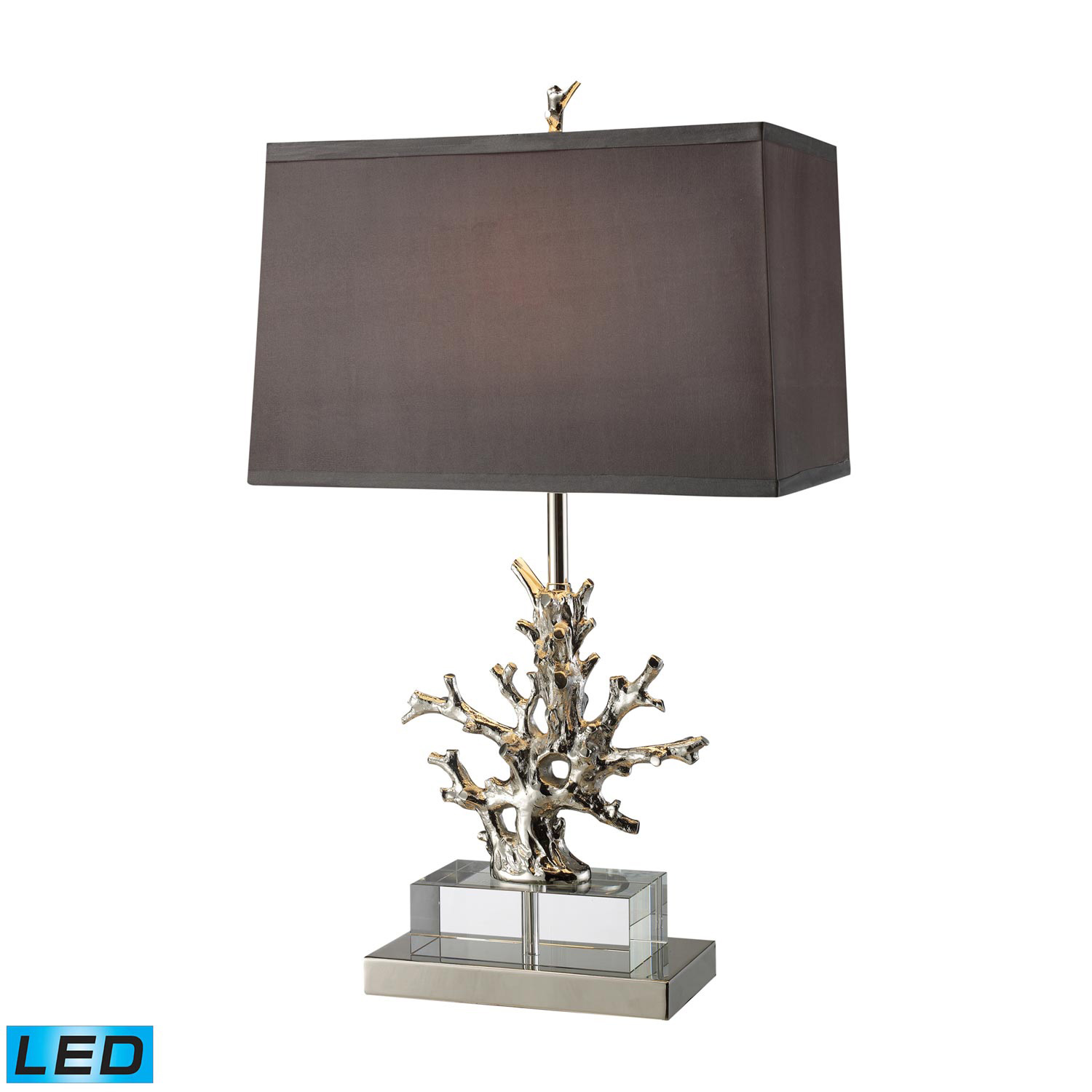 Elk Lighting D1867-LED Covington Table Lamp - Polished Nickel and Clear Crystal