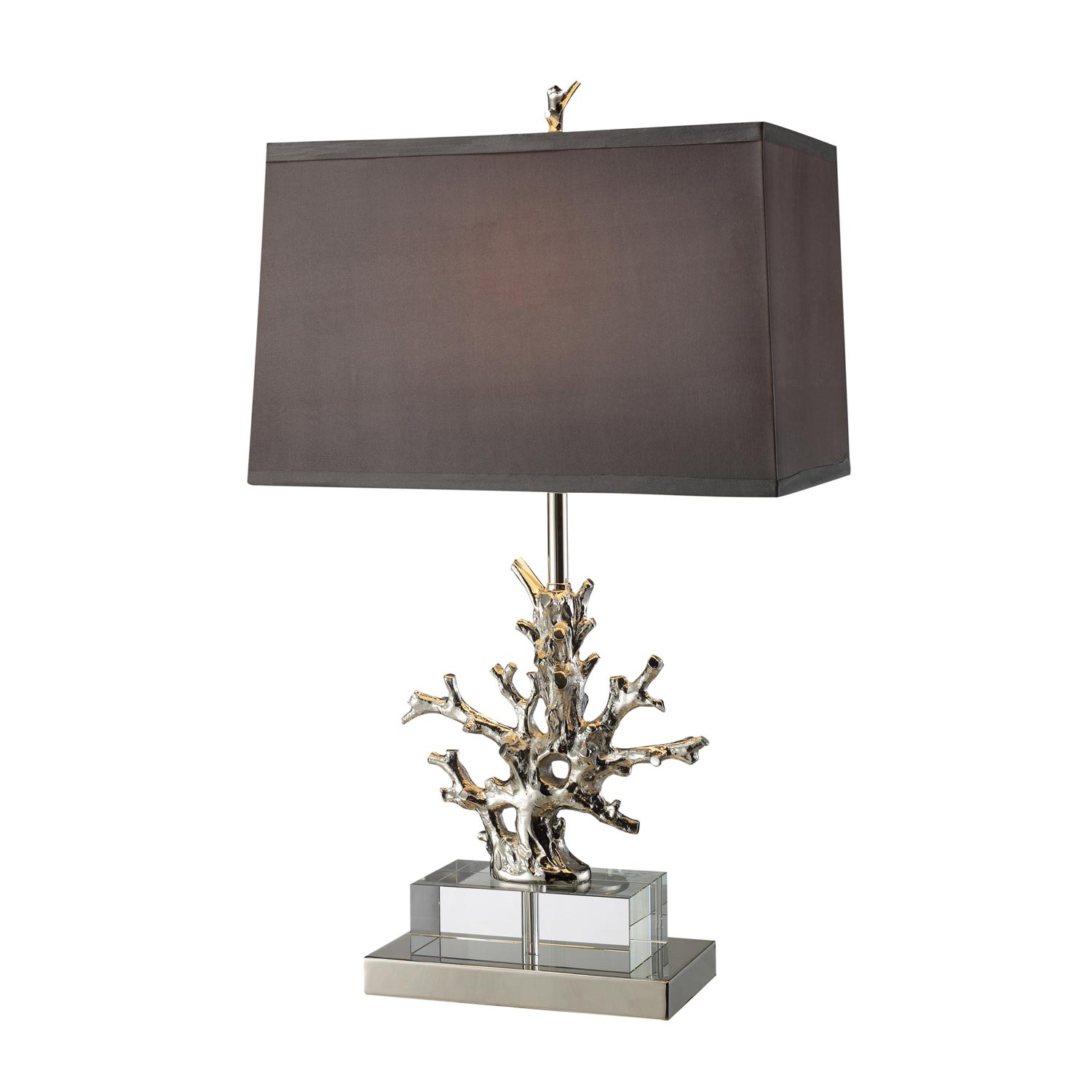 Elk Lighting D1867 Covington Table Lamp - Polished Nickel and Clear Crystal