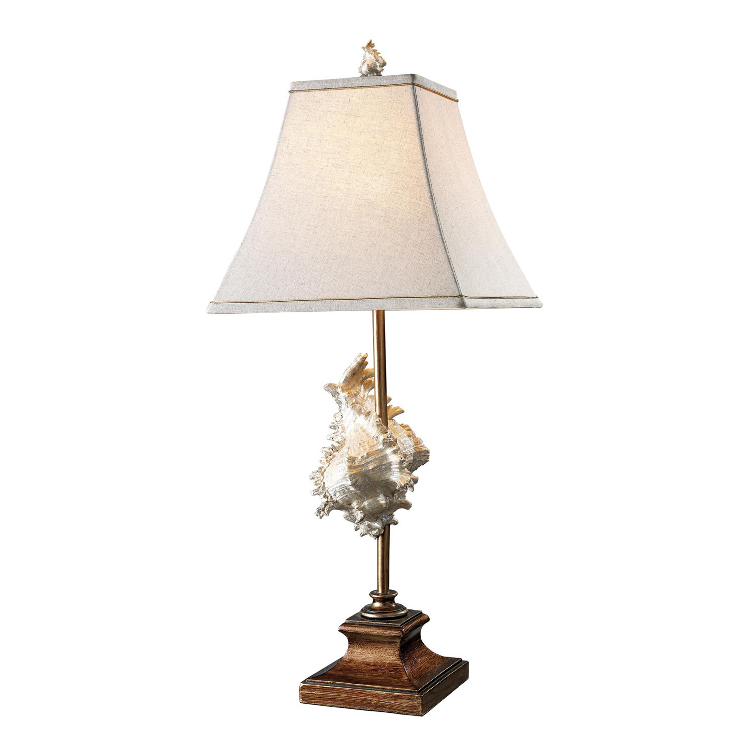 Elk Lighting D1979 Delray Table Lamp - Conch Shell and Bronze