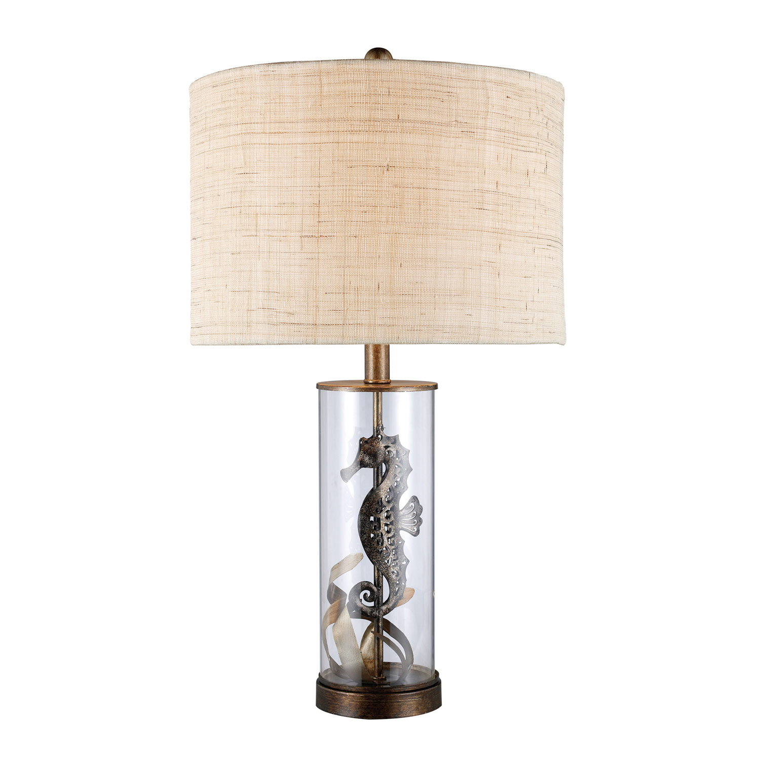 Elk Lighting D1980 Largo Table Lamp - Bronze and Clear Glass