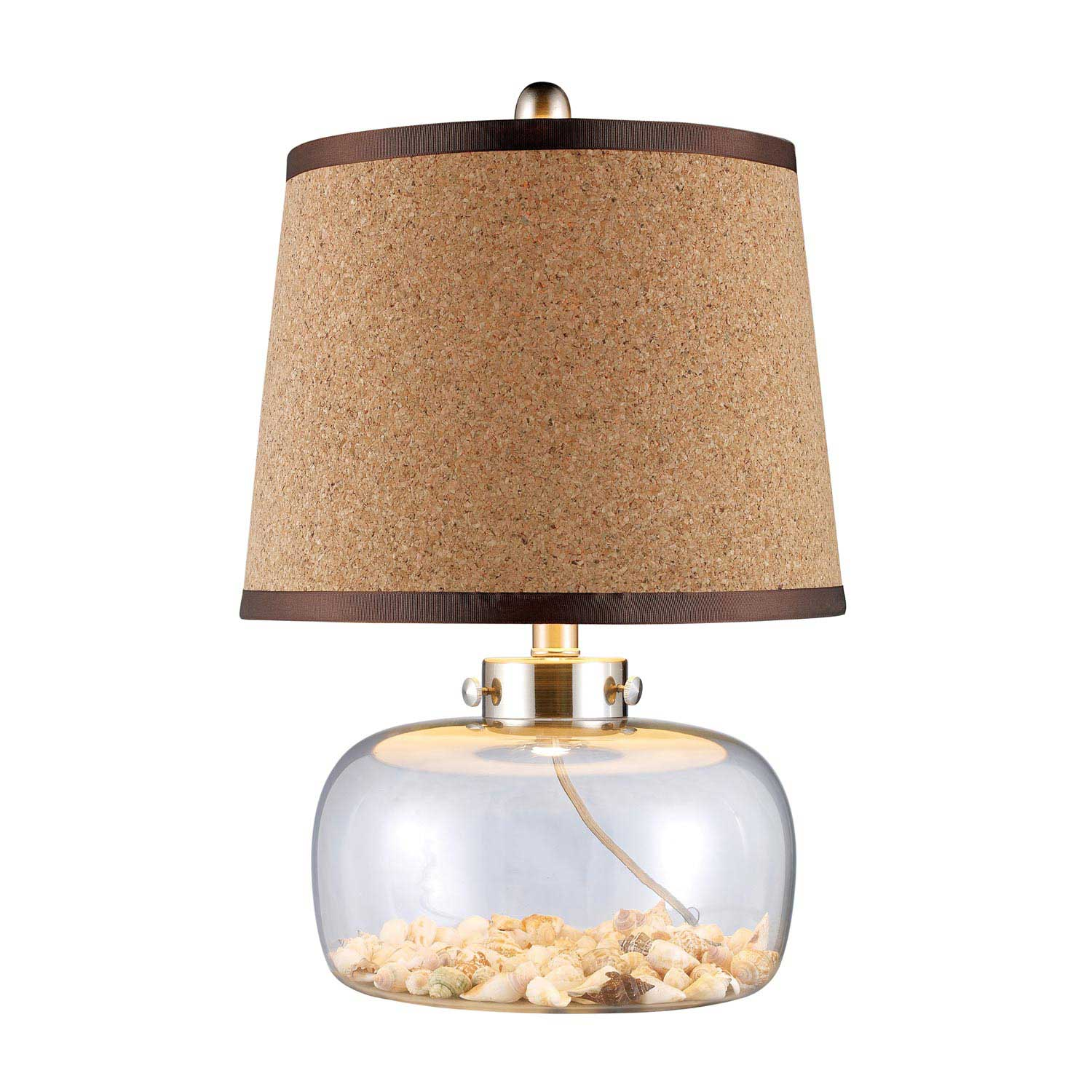 Elk Lighting D1981 Margate Table Lamp - Clear Glass and Shells