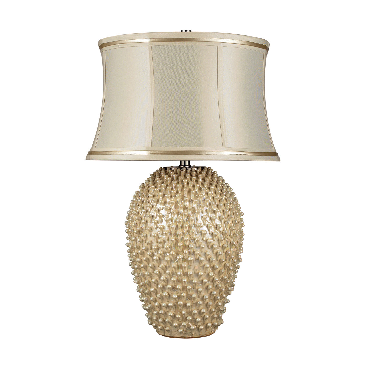 Elk Lighting D2112 Pineville Table Lamp - Pearlescent Cream
