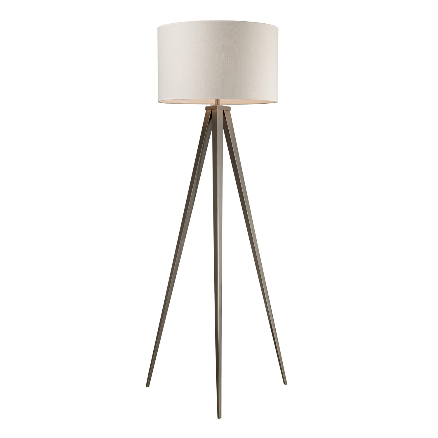 Elk Lighting D2121 Salford Floor Lamp - Satin Nickel