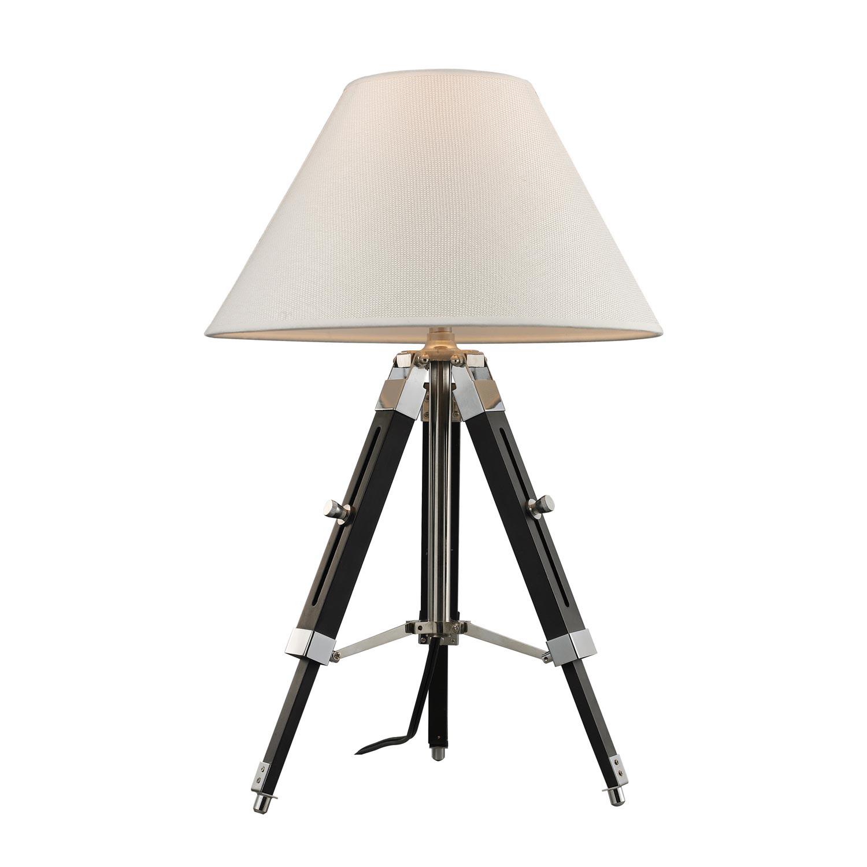 Elk Lighting D2125 Studio Table Lamp - Chrome and Black