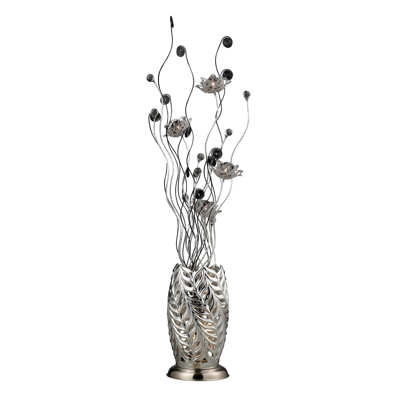 Elk Lighting D2129 Cyprus Grove Floor Lamp - Chrome and Black