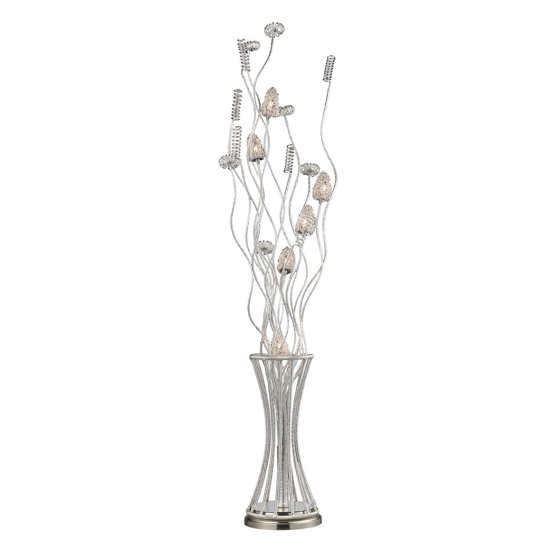 Elk Lighting D2130 Cyprus Grove Floor Lamp - Satin Nickel