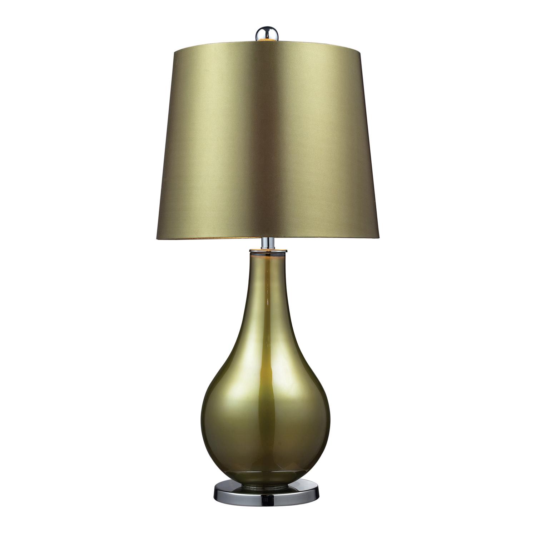 Elk Lighting D2225 Dayton Table Lamp - Sigma Green . Polished Nickle