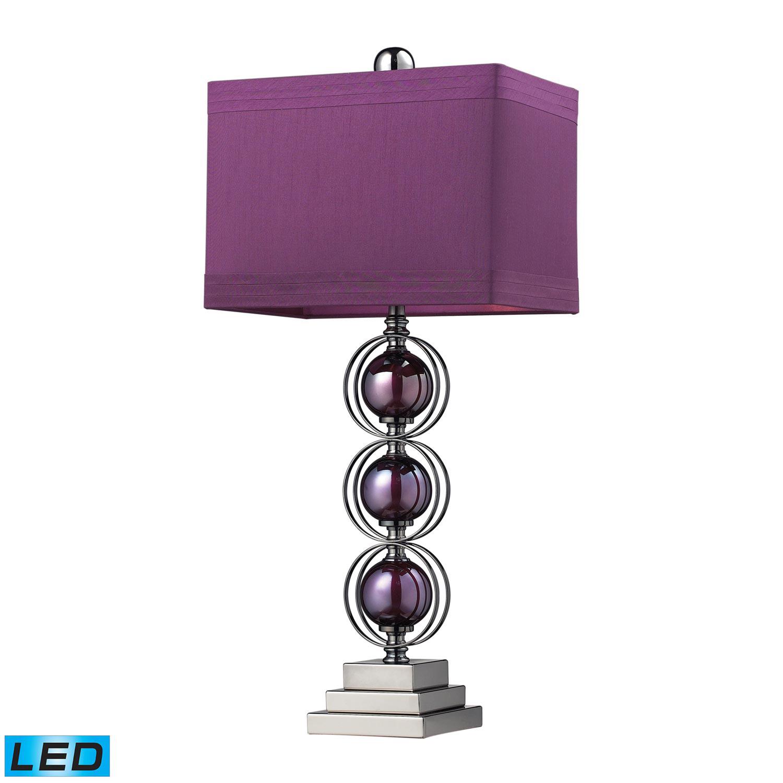 Elk Lighting D2232-LED Alva Table Lamp - Purple / Black Nickle