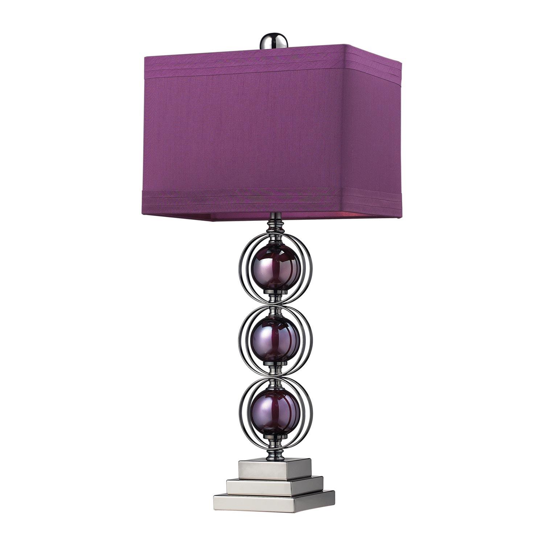 Elk Lighting D2232 Alva Table Lamp - Purple / Black Nickle