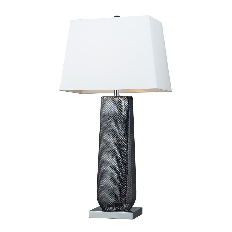 Elk Lighting D2237 Milan Table Lamp - Black Pearl / Chrome