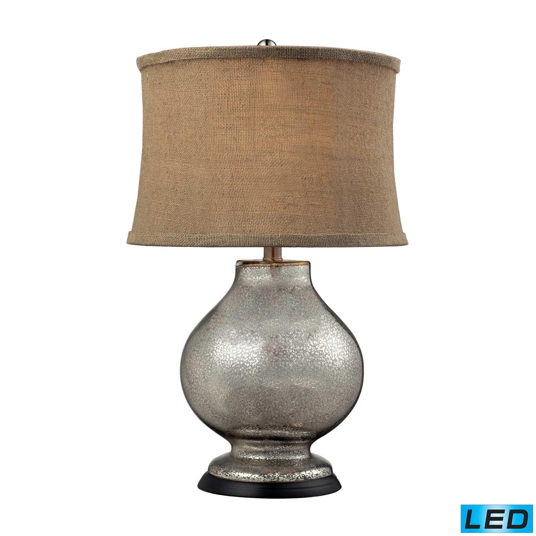 Elk Lighting D2239-LED Antler Hill Table Lamp - Antique Mercury Glass