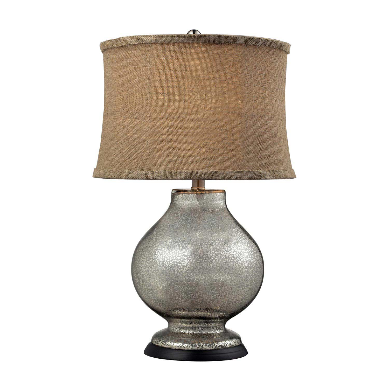 Elk Lighting D2239 Antler Hill Table Lamp - Antique Mercury Glass