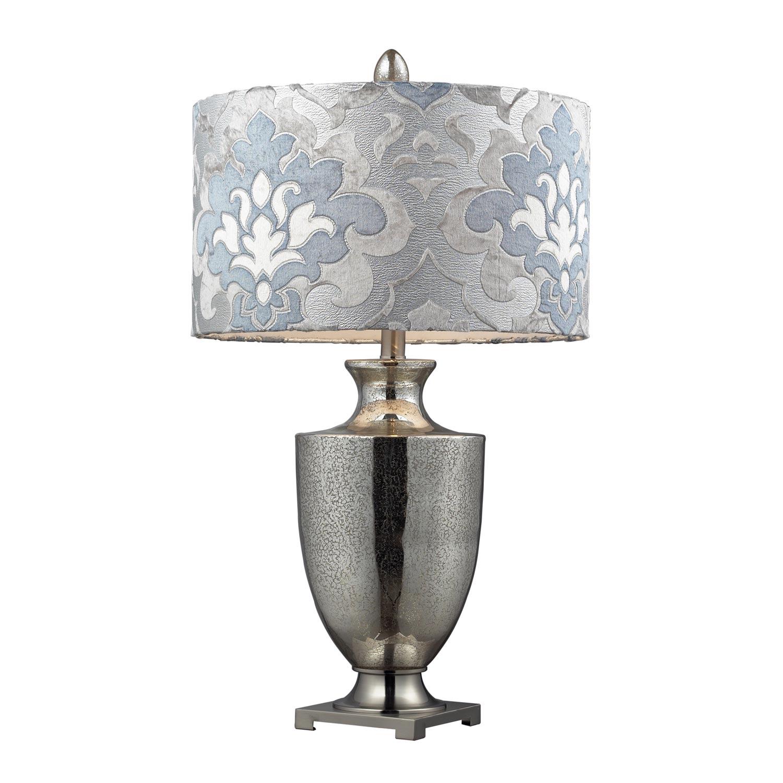 Elk Lighting D2248P Langham Table Lamp - Antique Mercury Glass with Polished Chrome
