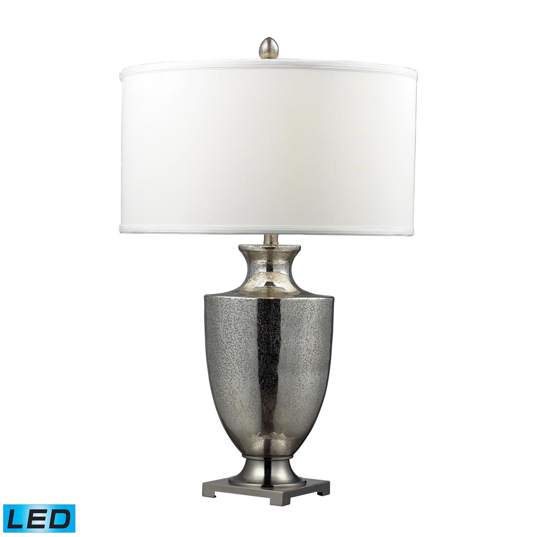Elk Lighting D2248W-LED Langham Table Lamp - Antique Mercury Glass with Polished Chrome