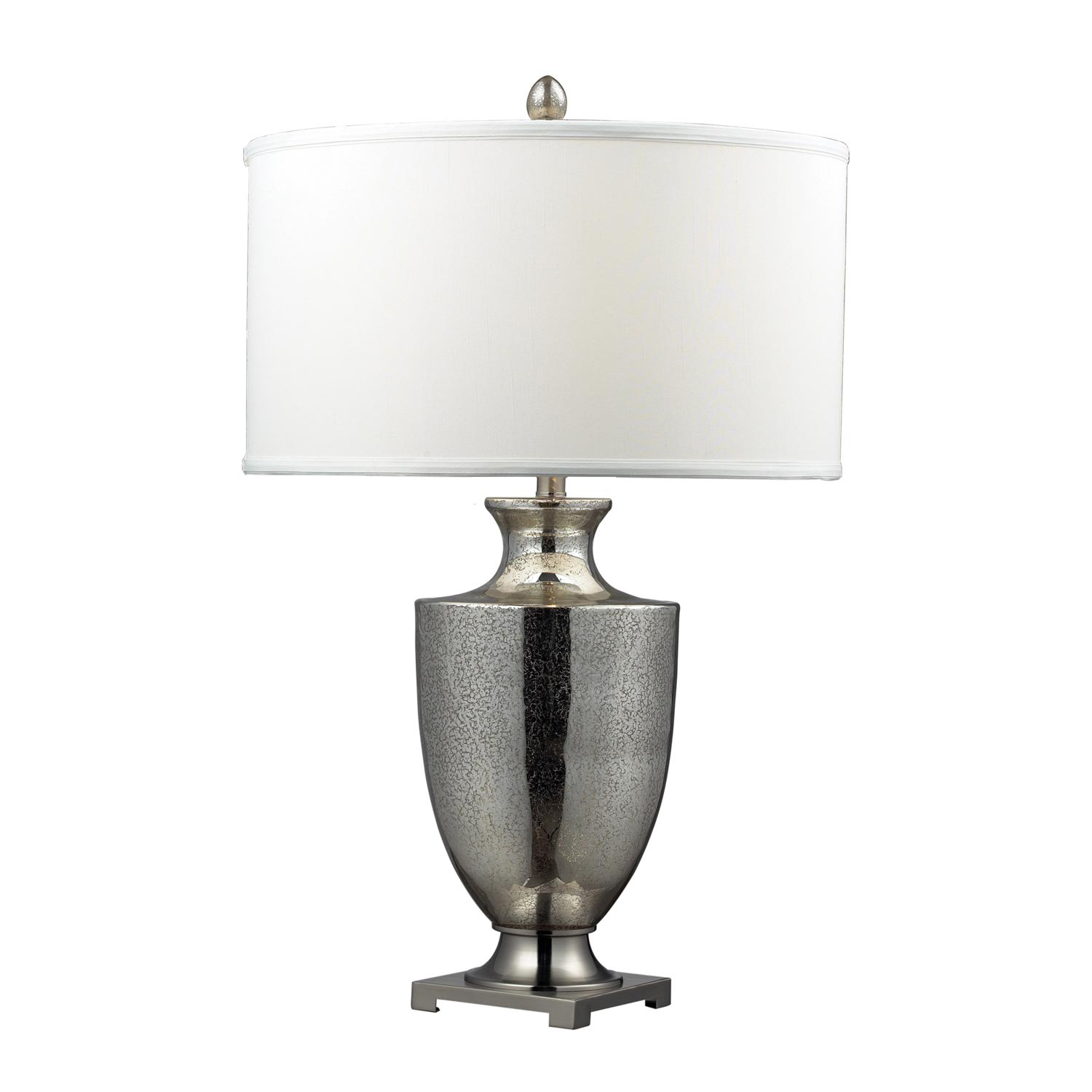 Elk Lighting D2248W Langham Table Lamp - Antique Mercury Glass with Polished Chrome