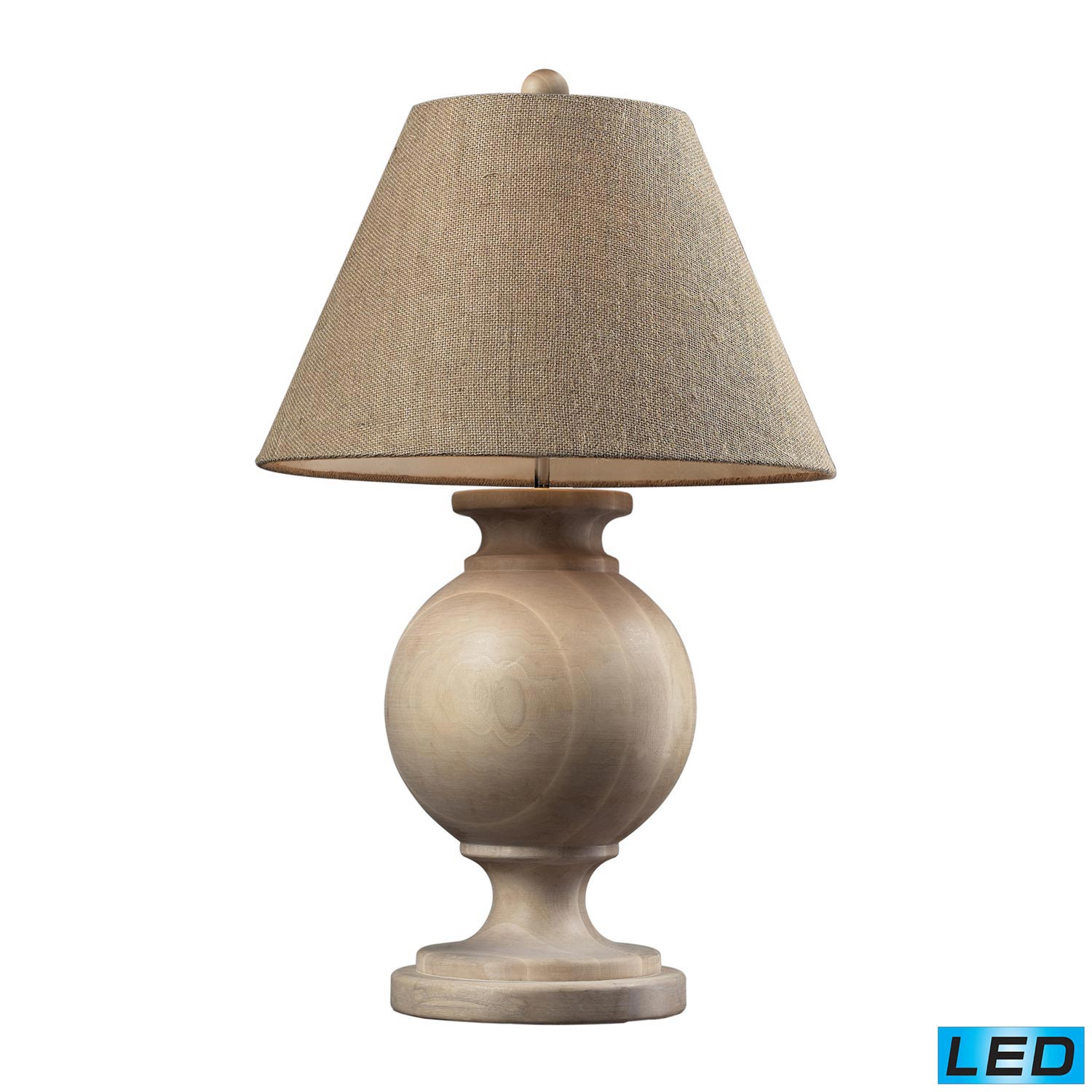D2249 led swannanoa table lamp beech wood for Lamp table beech