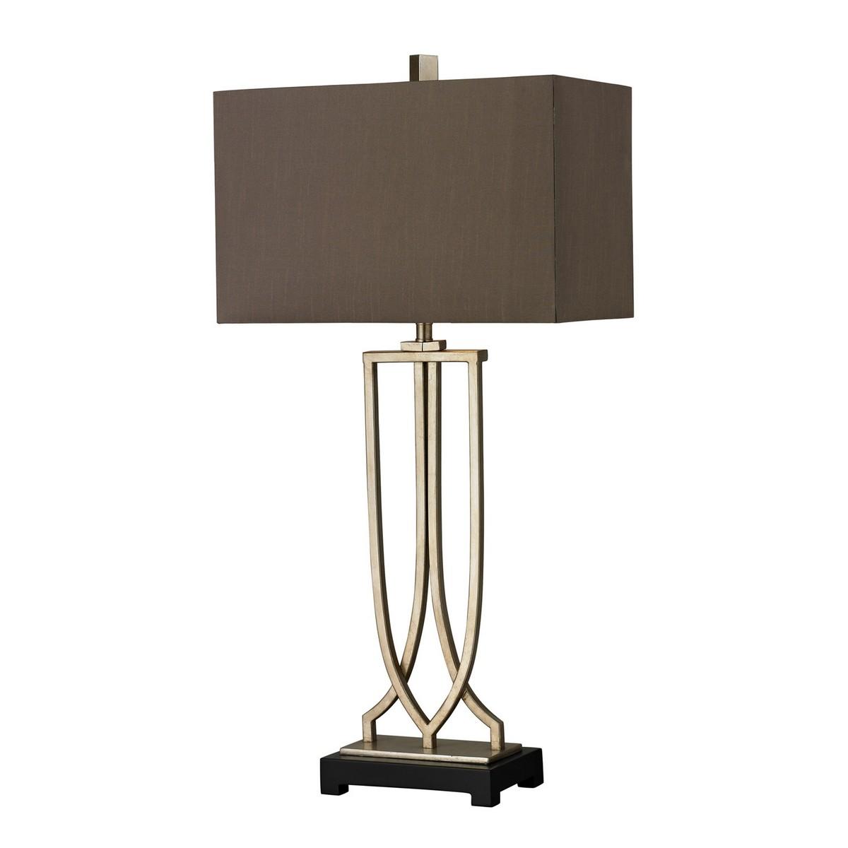 Elk Lighting D229 Table Lamp - Antique Silver Leaf
