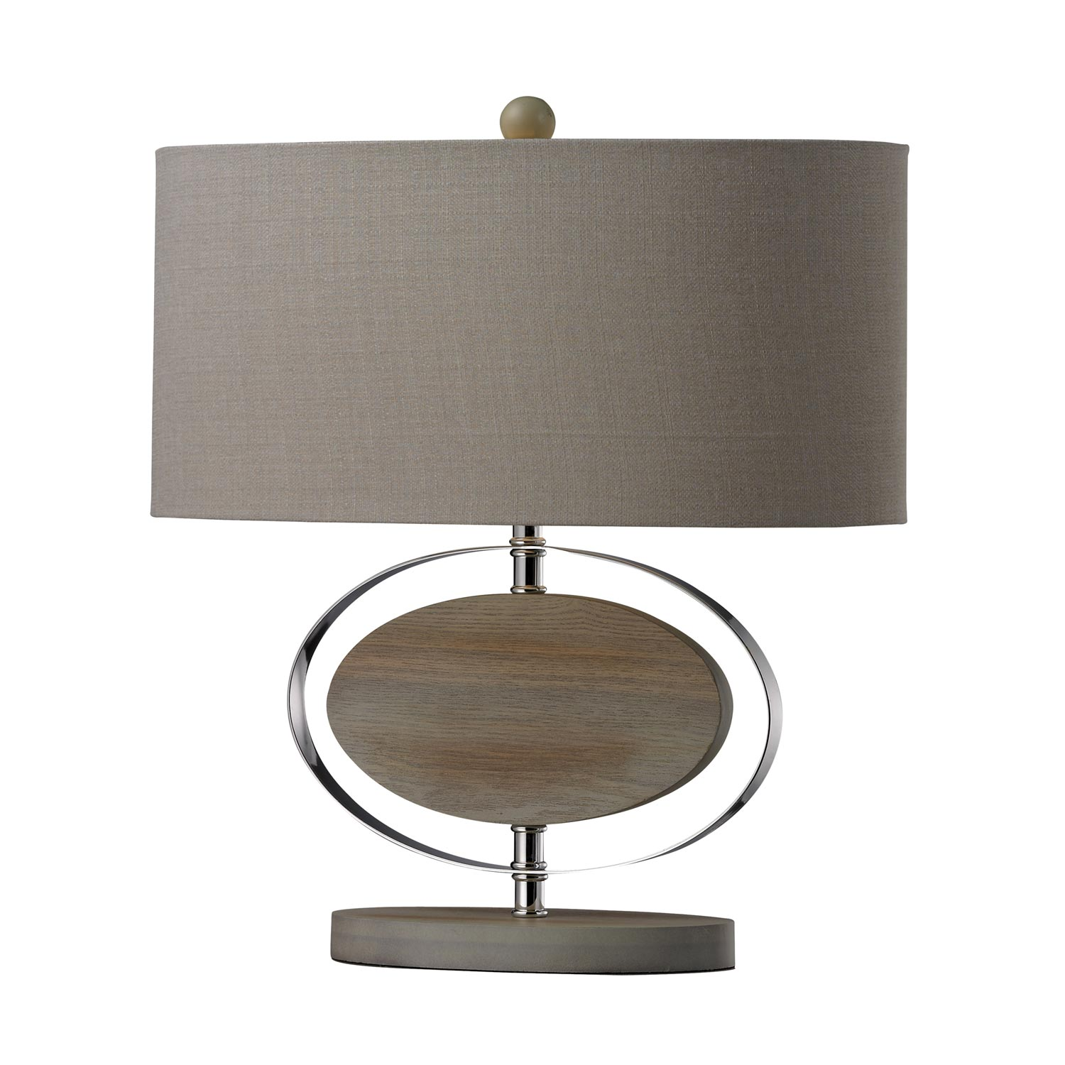 Elk Lighting D2296 Hereford Table Lamp - Bleached Wood with Chrom