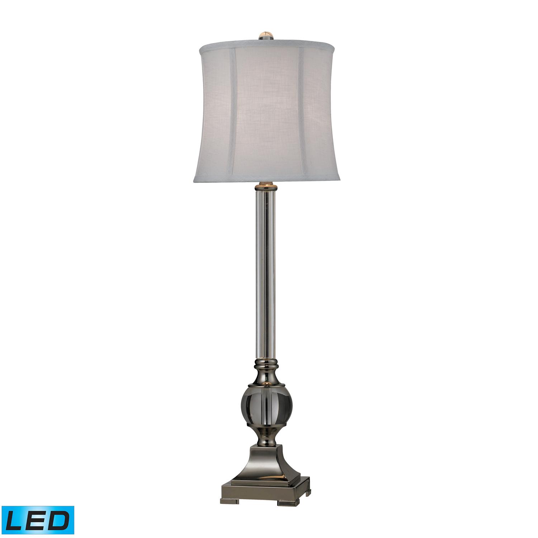 Elk Lighting D2309-LED Corvallis Table Lamp - Clear / Polished Nickel