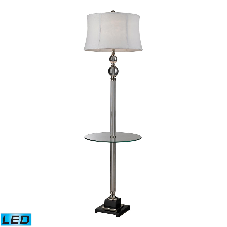 Elk Lighting D2310-LED Corvallis Floor Lamp - Clear / Polished Nickel