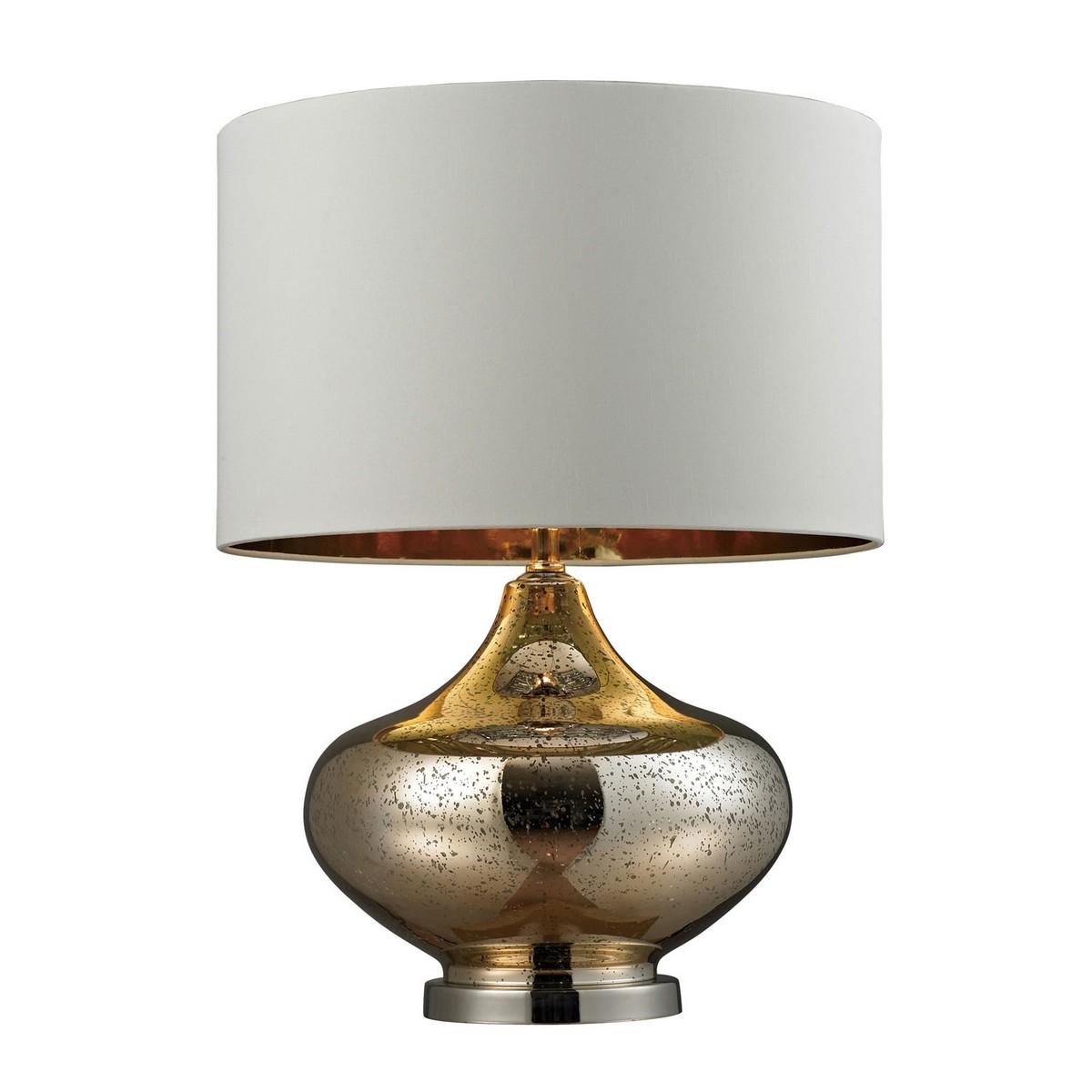 Elk Lighting D269 Table Lamp - Gold Mercury Glass, Polished Nickel