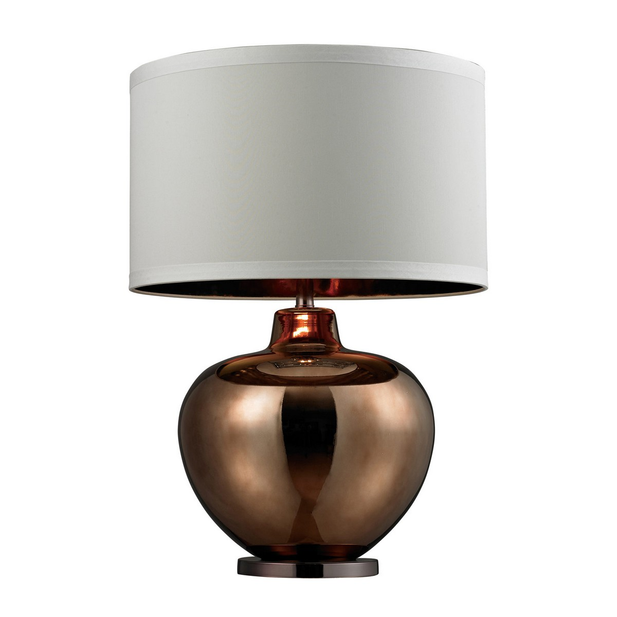 Elk Lighting D273 Table Lamp - Bronze Plated Glass with Coffee Plated Base