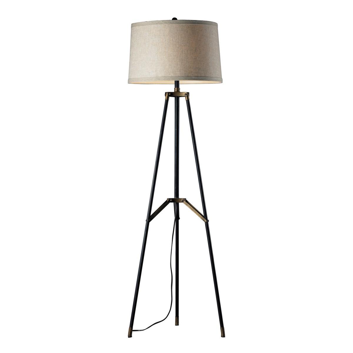Elk Lighting D310 Floor Lamp - Restoration Black/Aged Gold