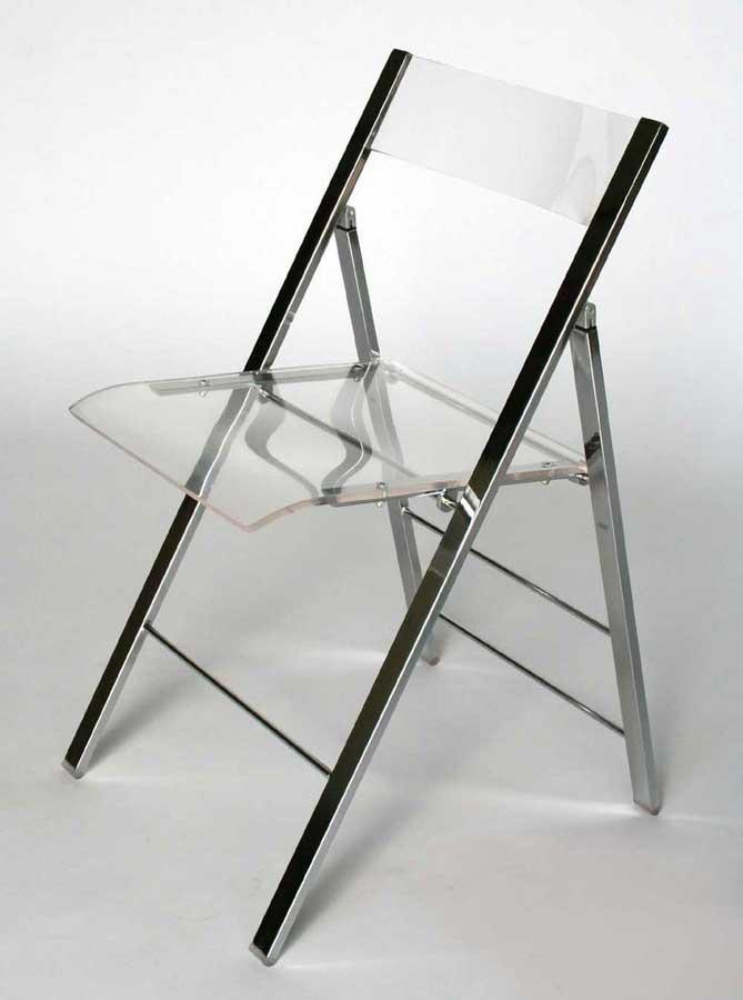 Wholesale Interiors FAY-506 Acrylic Foldable Chair