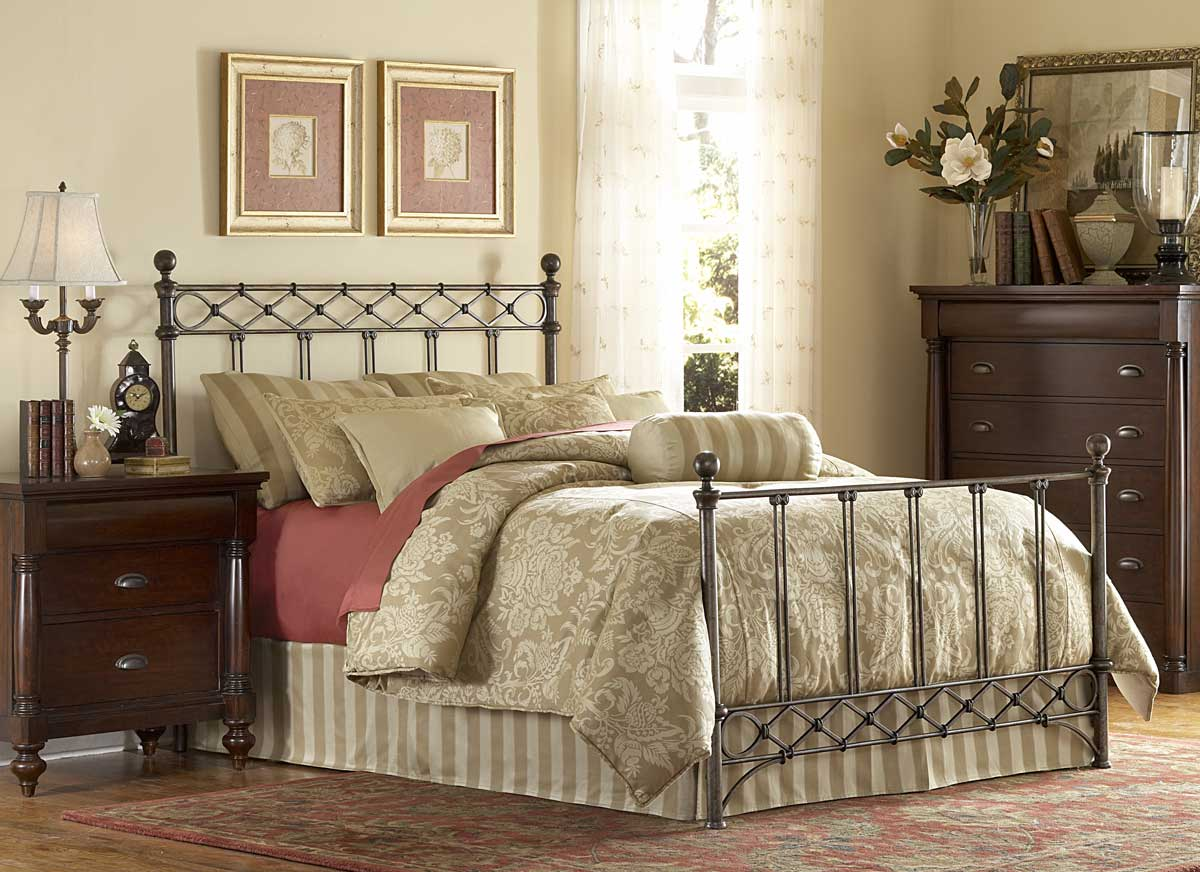 Fashion Bed Group Argyle Bed-Copper Chrome