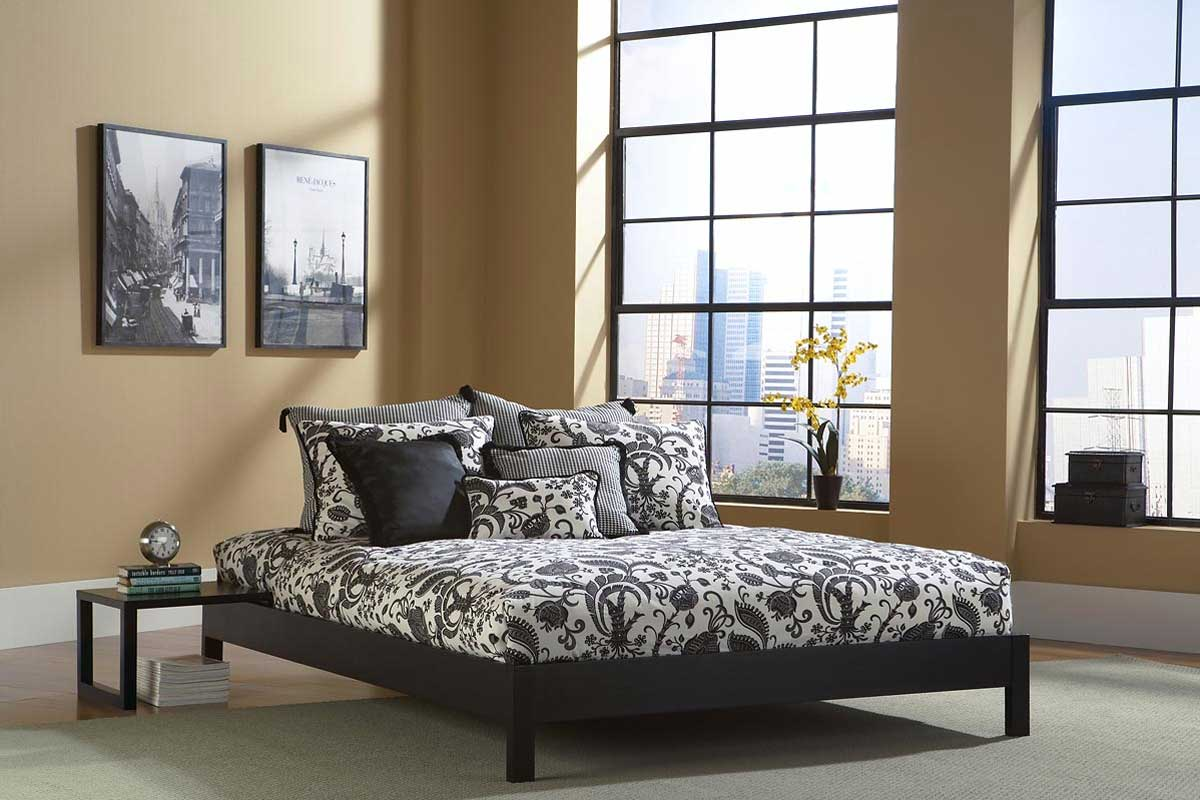 Fashion Bed Group Murray Platform Bed-Black