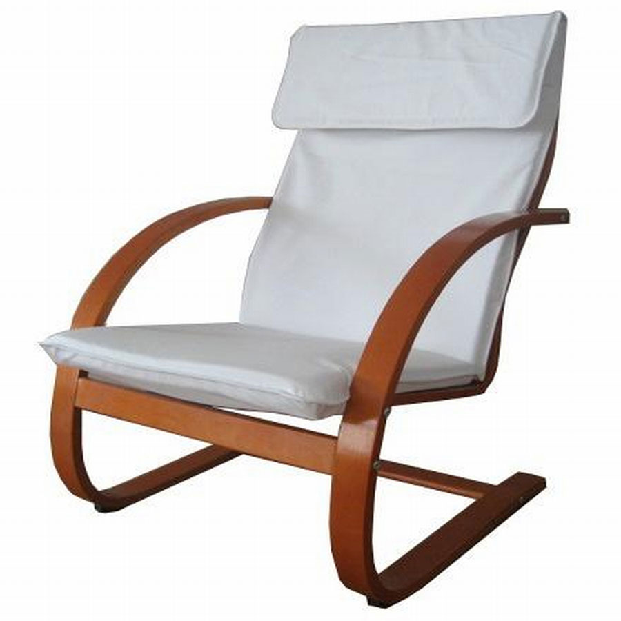 FY Lifestyle Bentwood Chandler Chair - Mahogany-White