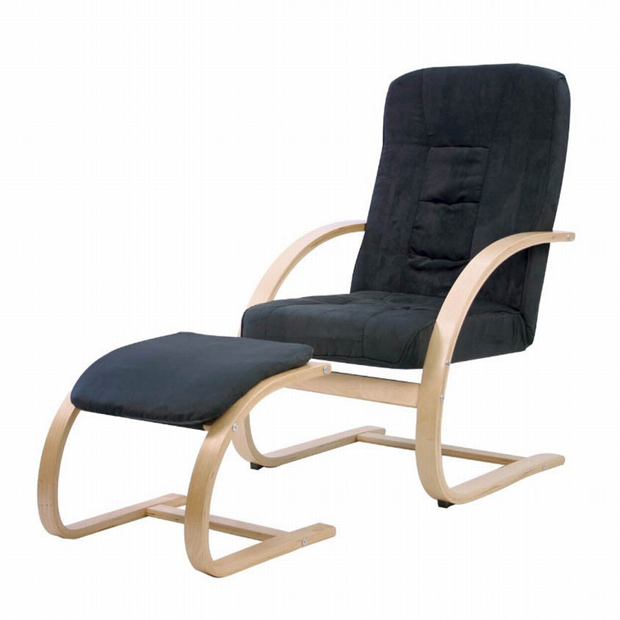 FY Lifestyle Bentwood Sella Chair With Ottoman - Black