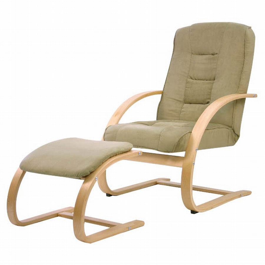 FY Lifestyle Bentwood Sella Chair With Ottoman - Sage