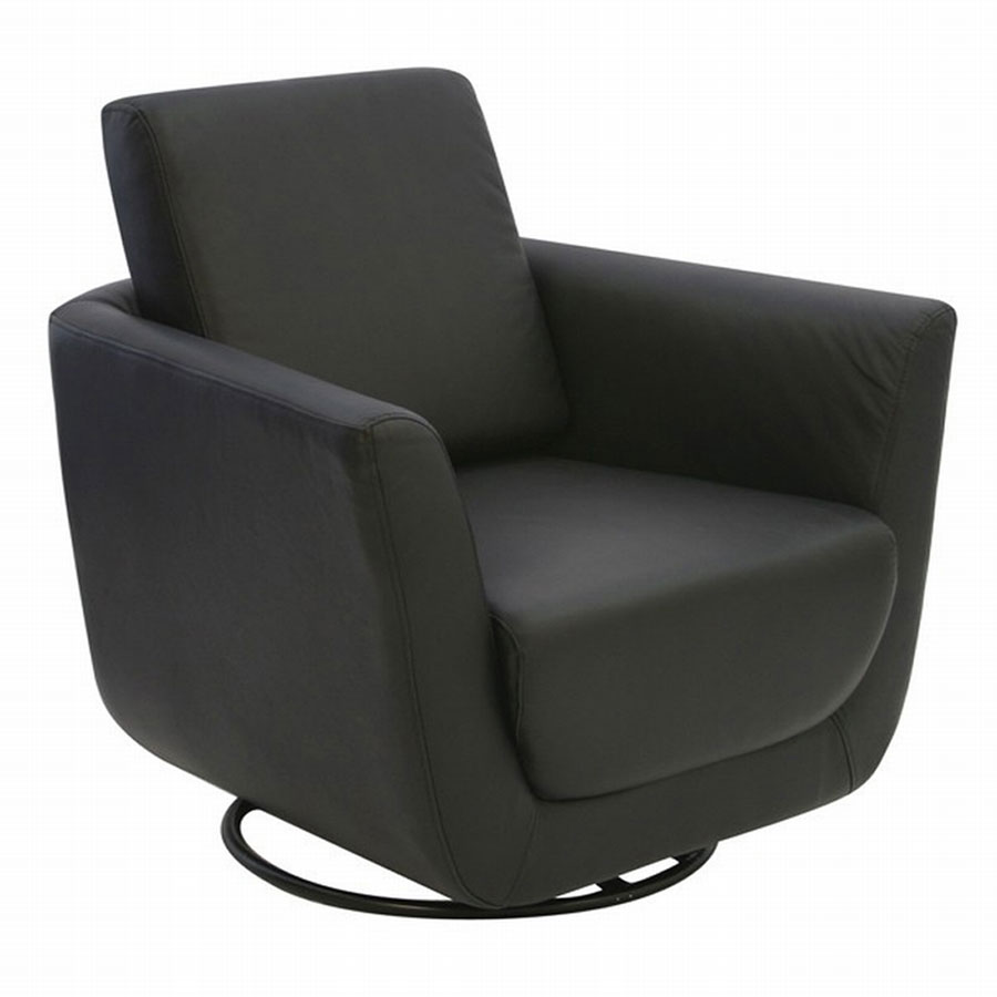 FY Lifestyle Zone Upholstered Swivel Chair - Black