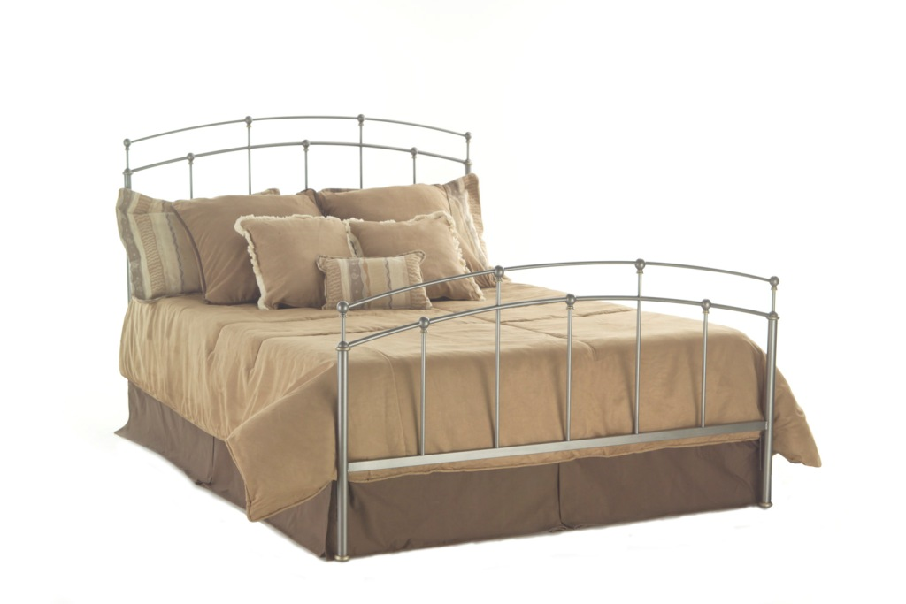 Fashion Bed Group Fenton Bed in Pumice/Gold Bullion