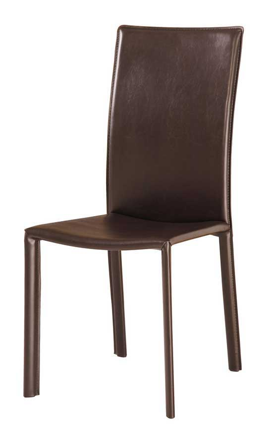 Cheap Global Furniture USA GF-110 Dining Chair-Wenge PVC