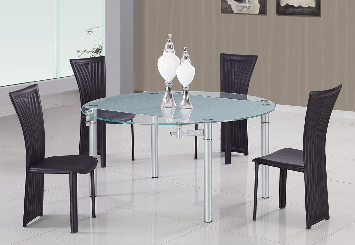 Global Furniture USA 135 Dining Set B - Black