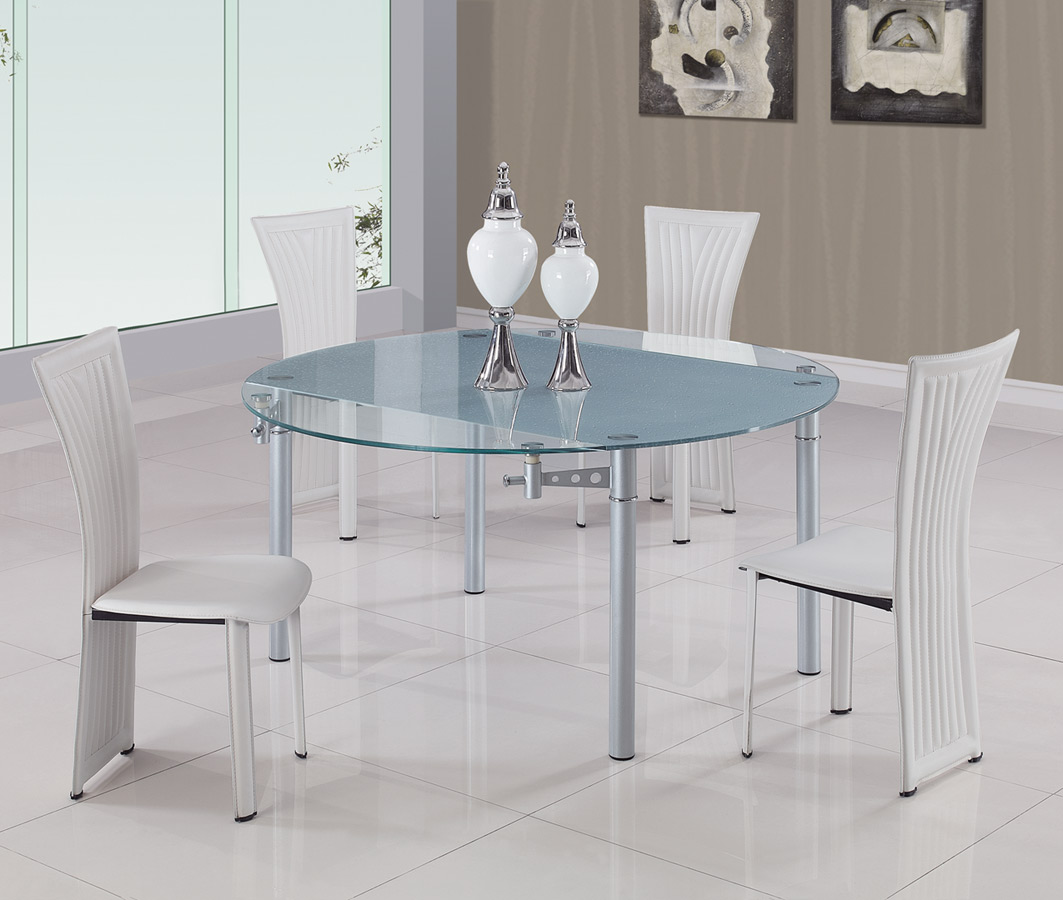 Global Furniture USA 135 Dining Set C - White