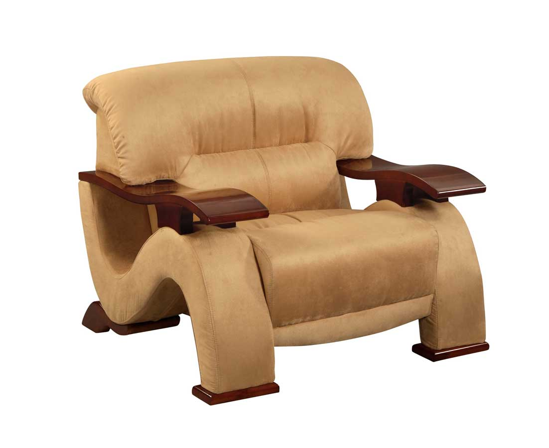 Global Furniture USA GF-2033 Chair-Beige Microfiber