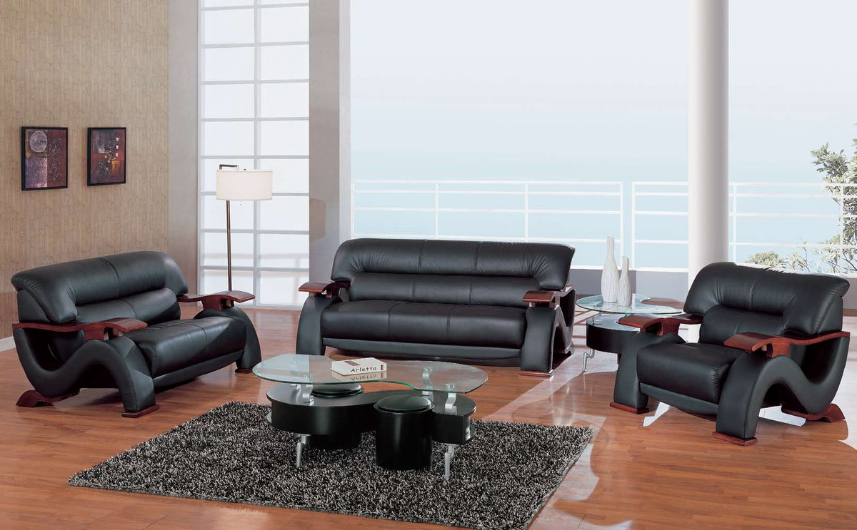 Global furniture usa 2033 living room collection black